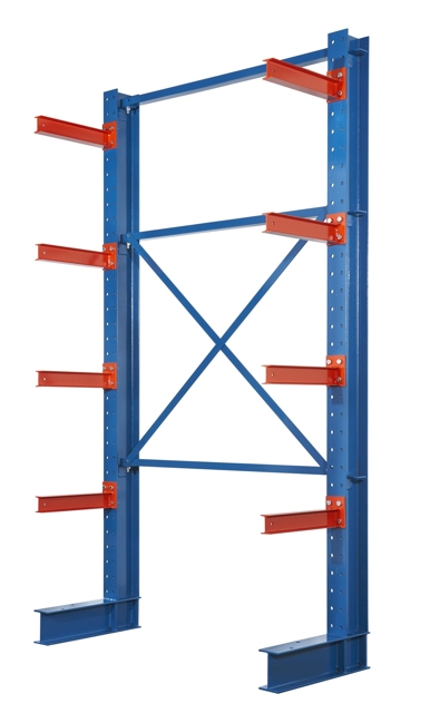 I beam cantilever rack, structural cantilever rack, I beam heavy duty cantilever rack