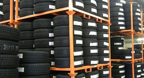 stacking rack, stack shelf, tyre shelving