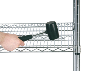 wire shelving, chrome wire shelving, install wire shelving